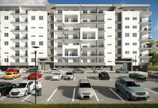 Jednosoban stan na povučenoj etaži od 46.04m<sup>2</sup> Lamela 2 – S3